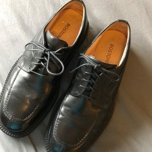BOSTONIAN ITALIAN LEATHER BLACK SIZE 10.5 MEN SHOE
